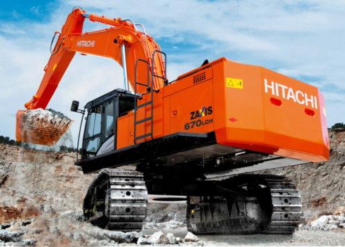 Полноповоротный экскаватор Hitachi ZX670LC-5G