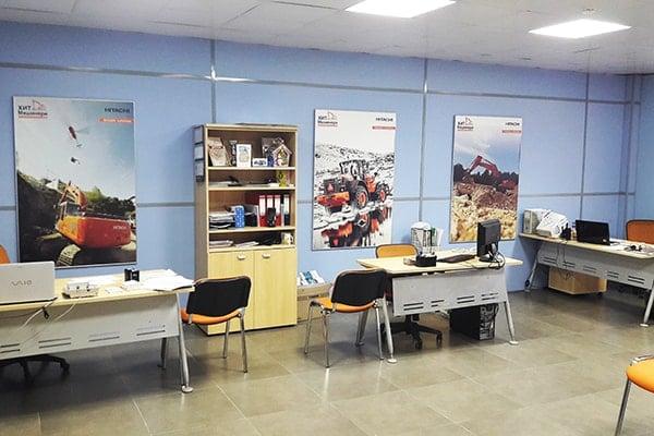 Офис Хит Машинери в Красноярске, купить экскаватор, фронтальный погрузчик, спецтехнику и запчасти