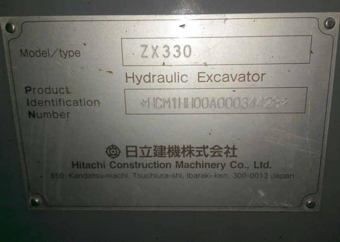 Б/у экскаватор гусеничный HITACHI ZX330 SN:4428