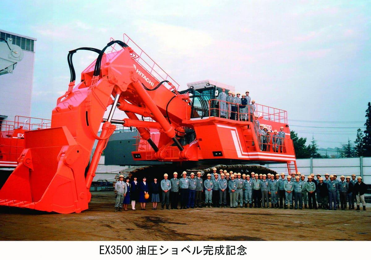 Hitachi EX3500 hydraulic excavator 1987