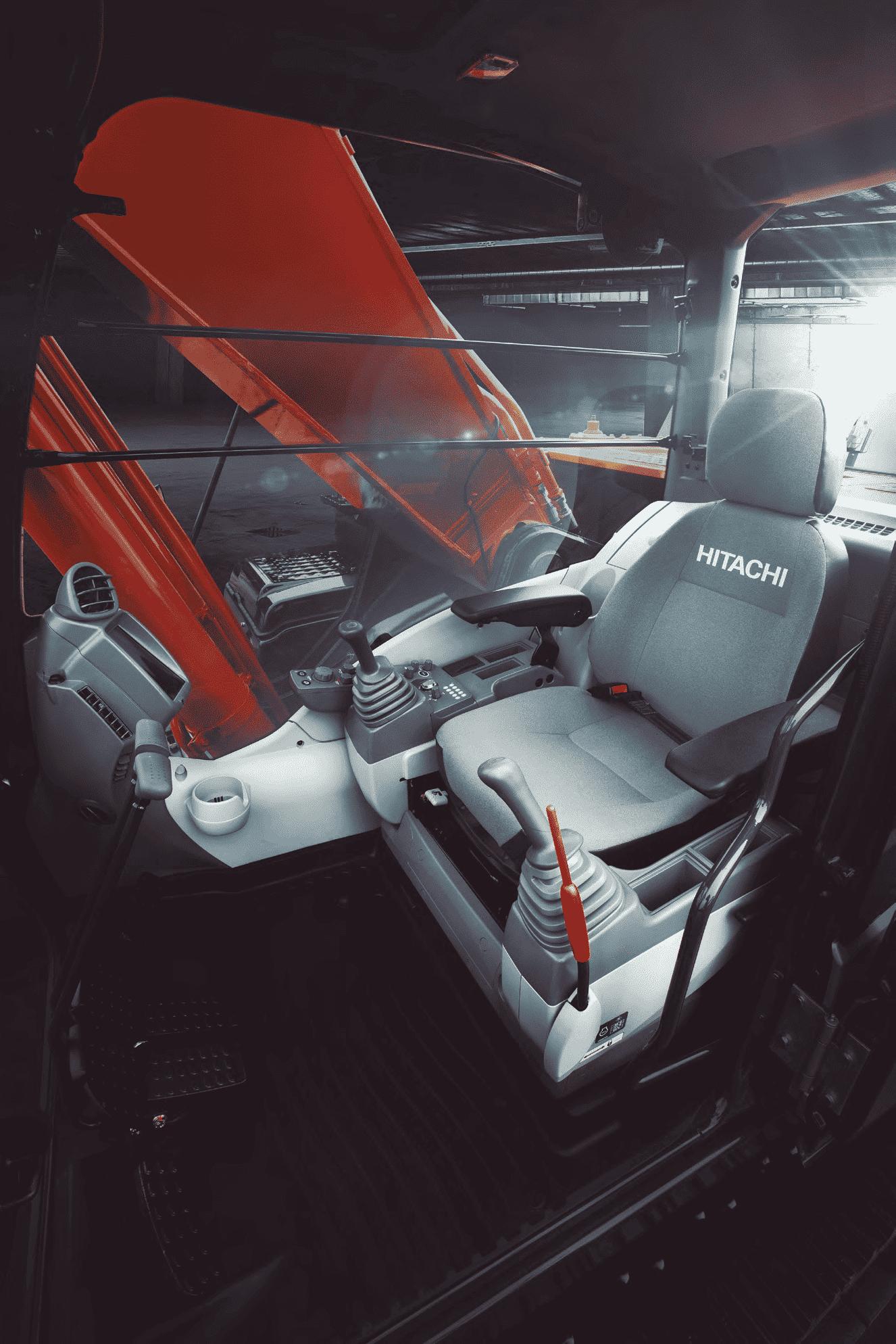 экскаватор среднего класса Hitachi ZX 300 5A кабина